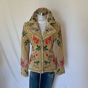 Johnny was biya velvet embroidered jacket